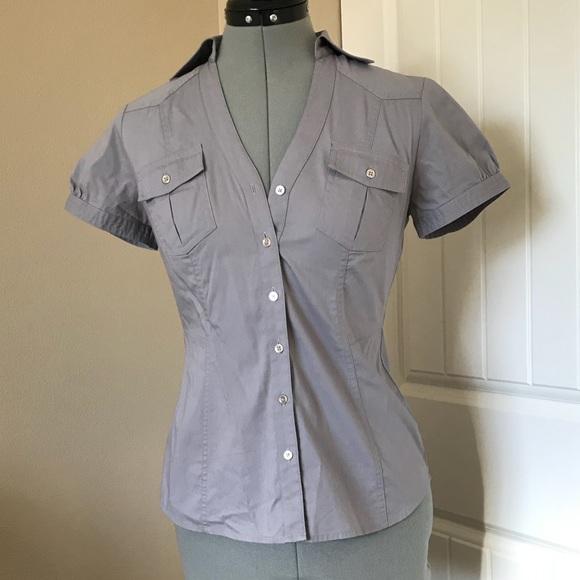 Express Tops - Express short sleeve button down shirt women s 4b4eaa8fa